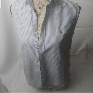 Ralph lauren striped sleeveless top